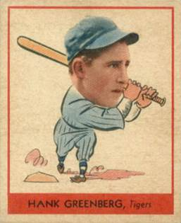 Image result for hank greenberg baseball card goudey