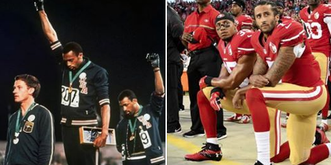 Image result for tommie smith and john carlos colin kaepernick