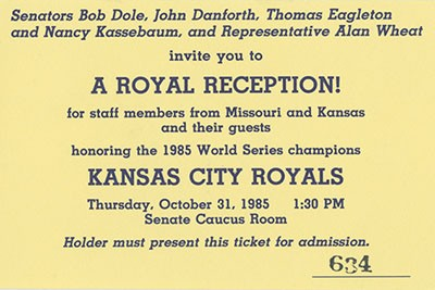 Image result for 1985 world series thomas eagleton first pitch