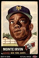 Image result for monte irvin new york giants baseball card