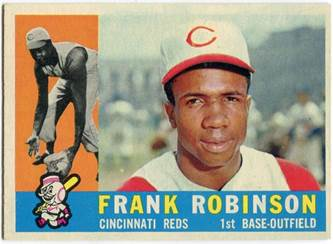 Image result for frank robinson baseball card cincinnati 1958