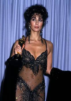 Image result for cher moonstruck oscar dress 1988