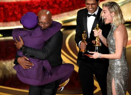 Image result for oscars 2019 spike lee samuel jackson