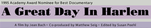 Image result for a great day in harlem documentary poster