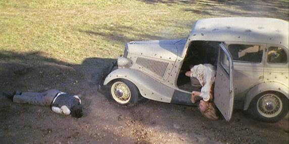 Image result for bonnie and clyde car shot up