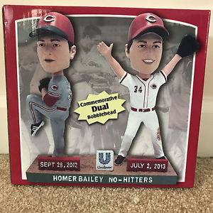 Image result for homer bailey no-hitter bobble heads