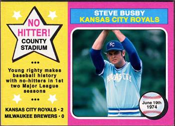 Image result for steve busby no hitters