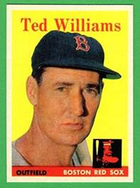 Image result for ted williams 1958 topps baseball card