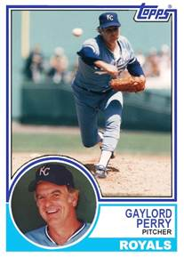 Image result for gaylord perry 1983 royals