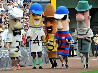 Image result for milwaukee brewers sausage race