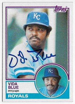 Image result for vida blue 1983 royals card