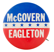 Image result for mcgovern eagleton button