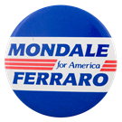 Image result for mondale 1984 campaign buttons