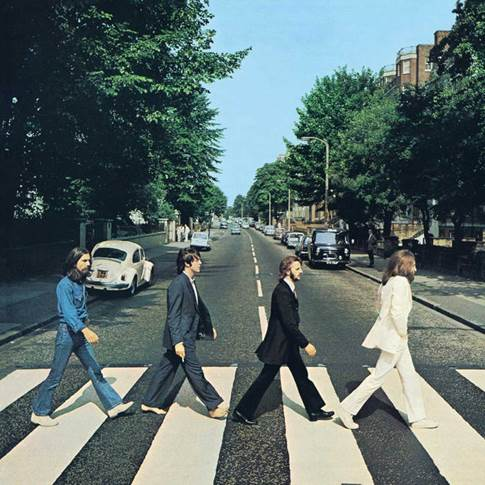 The Beatles - Abbey Road album cover: photo by Iain Macmillan, design by John Kosh