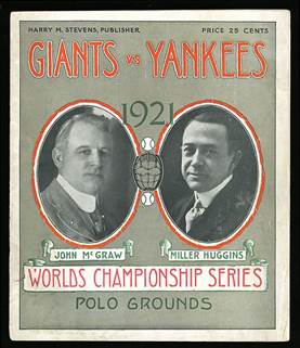 Image result for 1921 world series program
