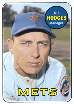 Image result for gil hodges mets manager baseball card 1968
