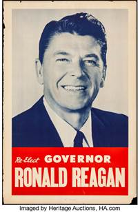 Image result for 1970 campaign poster ronald reagan