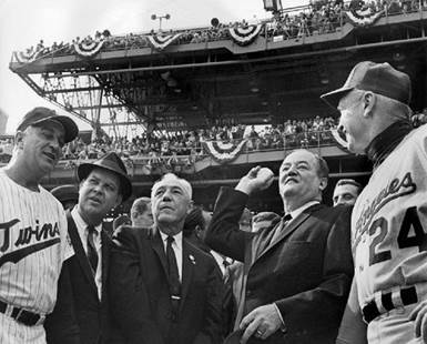 Image result for hubert humphrey first pitch world series minnesota twins
