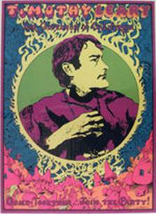 """TIMOTHY LEARY FOR GOVERNOR OF CALIFORNIA"" PSYCHEDELIC BLACK LIGHT POSTER."