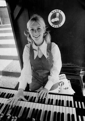 Nancy Faust, organist for the White Sox, at Comisky Park on June 5, 1971.