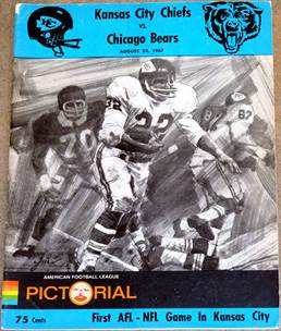Image result for bears chiefs august 1967 program