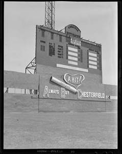 Image result for boston braves field scoreboard