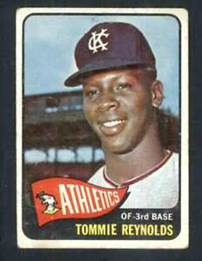 Image result for tommy reynolds baseball card kansas city a's