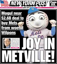 Image result for mogul wilpons new york post front page