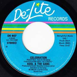 Image result for celebration kool and the gang 45 rpm