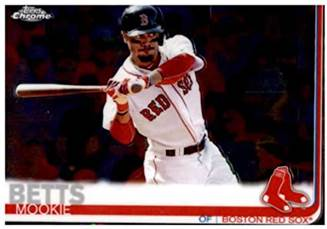 Amazon.com: 2019 Topps Chrome Baseball #50 Mookie Betts Boston Red Sox  Official MLB Trading Card (Note: any scan streaks are not on card):  Collectibles & Fine Art