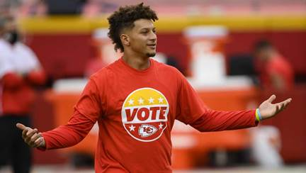 CHIEFS KINGDOM: Patrick Mahomes, Tyrann Mathieu featured in NFL's National  Voter Registration Day spot