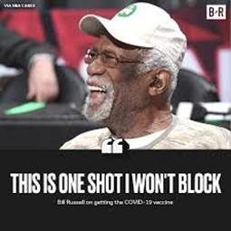 Image result for bill russell covid shot