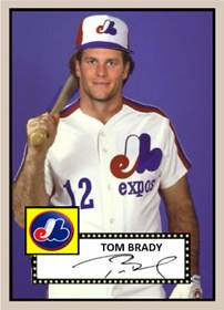 Image result for tom brady baseball cards