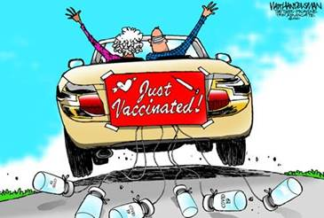 Editorial Cartoon U.S. covid vaccination