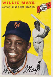 REPRINT Willie Mays 1955 Topps BASEBALL card #194 New York Giants Sports  Trading Cards & Accessories sports memorabilia