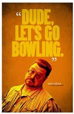 The BIG LEBOWSKI Dude Lets Go Bowling Quote | Etsy