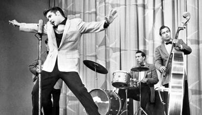 """Inside Elvis Presley's First Ever TV Performance – Sang """"Shake, Rattle, &  Roll"""" On """"Stage Show""""   Classic Country Music"""