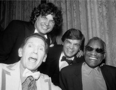 Everlys with Jerry Lee Lewis and Ray Charles at the Rock Hall Induction